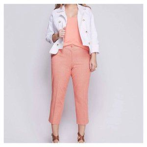 Lane Bryant The Lena Pink Cropped Curvy Fit Pants